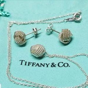 Tiffany & Co  Twist Knot Pendant & Earrings set